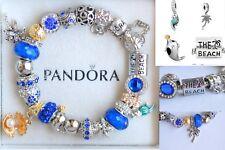 Authentic Pandora Silver Bracelet European Charms The Beach Shell Palm Travel