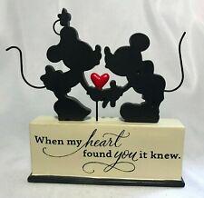 "Hallmark DisneyMickey and Minnie Resin Statue ""When My Heart Found You It Knew"""