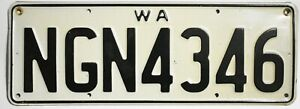 WEST AUSTRALIA LICENSE PLATE TAG EXPIRED - USED