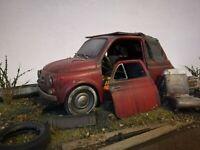 Fiat 500 Umbau Diorama Scheunenfund 1:16 Oldtimer 1:18