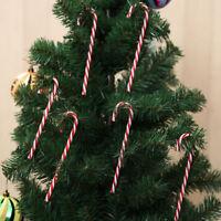 Eg _6Pcs Albero di Natale Candy Cane Ornamento da Appendere Decorazione Festa