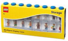 LEGO® MINIFIGUREN DISPLAY BLAU FÜR 16 FIGUREN STAPELBAR MIT TÜREN   NEU & OVP
