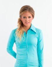 Fitted Zipper Show Shirt in Cotton Lycra