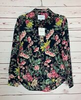 THE SHIRT Rochelle Behrens Women's S Small Floral Spring Top Blouse NEW TAGS