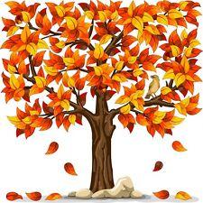 30 Custom Autumn Tree Personalized Address Labels