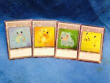Set of Pokemon Kanto Starters Custom Ultra Rare Yugioh Tokens