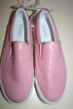 Old Navy Girls Slip On Sneakers Tennis Shoes Pink Metallic Size 5
