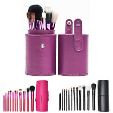 12pcs PROFESSIONAL Make up Brushes Set Powder Foundation Blusher with Case