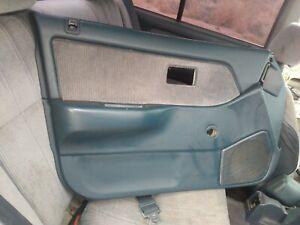 88-91 Honda Civic lx Left Driver L Front Door Panel interior blue Trim