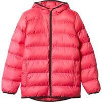 Adidas Girls BTS Padded Jacket Juinor Youth Hooded Jacket Coat - Pink - AY6787