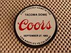 Hockey Puck - First Hockey Game Tacoma Dome Coors - 1983 Los Angeles vs Calgary