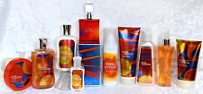 Bath & and Body Works ORANGE SAPPHIRE Perfume Lotion Cooling Mist COMPLETE SET!