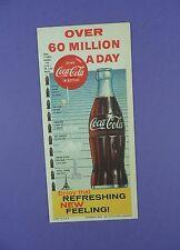 Coca Cola - Original 1960 Advertising Blotter - 60 Million A Day