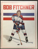 1976 WHA Hockey Program Phoenix Roadrunners vs Indianapolis Racers Bob Fitchner