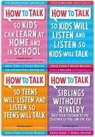 How to Talk So Kids and Teens Will Listen 4 Books Collection Set Pack NEW