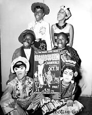 African American Kids in Halloween Costume Advertising Party-Vintage Photo Print