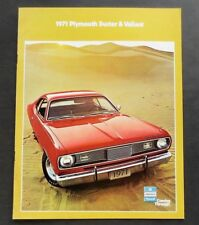 ORIGINAL 1971 PLYMOUTH DUSTER VALIANT FIRST EDITION BROCHURE ~ 10 PAGES ~ PDV71