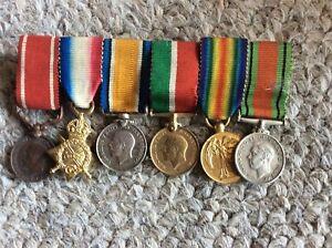 Nice unattributed ww1 mini bronze sea gallantry medal 1914/15 trio mercantile