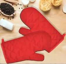 Celebrity 1 Pair Kitchen Oven Mitts Heat Glove Baking Cooking Tool (Red)