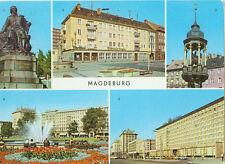Alte Ansichtskarte Postkarte Magdeburg Mehrbild 1977 farbig