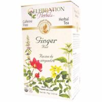 Organic Ginger Root Tea 24 Bags  by Celebration Herbals