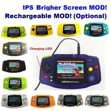 Rechargeable Game Boy Advance GBA Console with V2 iPS Backlight LCD MOD Console