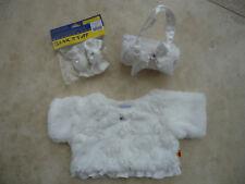 NUOVA Build a Bear Workshop pelliccia + fiocchi di pelliccia pelliccia + Borsa Adatta 16 in (ca. 40.64 cm) Bear