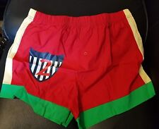 New Mens bright Red Boxer Shorts size M 100% Cotton underwear button front