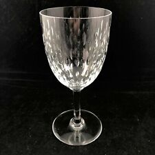 Baccarat Paris Crystal Tall Water Goblet Cut Glass Clear France