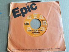 """BOB LUMAN - How Do You Start Over 1975 MONO / STEREO PROMO 7"""" Country Pop EX-"""