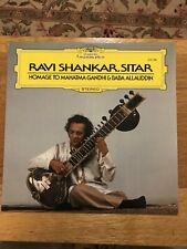 BEATLE RELATED) RAVI SHANKAR, SITAR HOMAGE TO MAHATMA GHANDI & BABA ALLAUDDIN LP