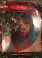 """Bucilla Felt Tree Skirt """"Festive Tree"""" Arts Crafts Vintage 2001 - New in Pkg"""