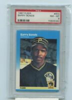 BARRY BONDS 1987 Fleer Rookie Card RC #604 Pittsburgh Pirates Graded PSA NM-MT 8