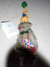 deb canham dcad miniature teddy bear nib coco clown l.c.e. atlanta 177 of 400