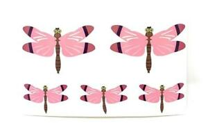 DRAGON FLY Removable Fabric Vinyl DECAL Sticker Set of 5 - 2 Sizes for Window