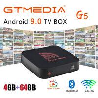 GTMEDIA G5 Android 9.0 TV Box Quad Core 4K Dual Wifi BT 4.0 Media TV Caja Player