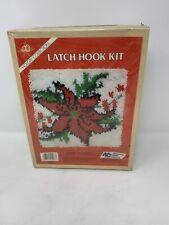 National Yarn Crafts Latch Hook Kit Poinsettia X948P Christmas - Sealed