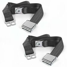 Chevy Truck 1988 - 1998 Airplane 2pt Charcoal Lap Bench Seat Belt Kit - 3 Belts(Fits: Whippet Model 96)