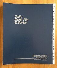 Oxford A-Z Expandables Daily Desk File & Sorter ~ DDF3-OX (Blue)