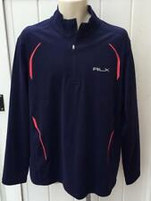 Ralph Lauren Mens RLX half zip jacket pullover xl $165 navy blue / red nwt