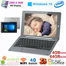 Chuwi Hi10 Pro 10.1INCH Windows10+Android5.1 4+64G 2 in 1 Ultrabook +Tastiera