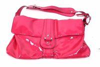 Original ESCADA Damen Handtasche Luxushandtasche Lackleder Leather Bag Pink