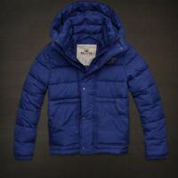 NWT Men's Hollister by Abercrombie Blue la Jolla Puffer Jacket Coat Size XL