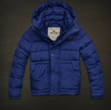 NWT Men's Hollister by Abercrombie Blue la Jolla Puffer Jacket Coat Size L