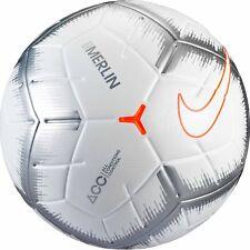 NIKE MERLIN QUICK STRIKE OFFICIAL MATCH SOCCER BALL WHITE,CHROME,ORANGE SIZE 5
