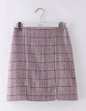 BODEN BNIB British Tweed Mini Skirt - Pink/Grey Check - UK 18 L - 2016