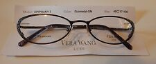 Vera Wang Luxe Titanium Epiphany I Gunmetal 49/17 Eyeglass Frame New