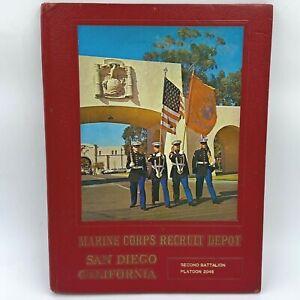 Marine Corps Recruit Depot San Diego CA 1977 Yearbook 2nd Batt Plat 2048 BK5