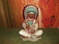 Grosse - Figur - Indianer - Skulptur - Statue - Seltene Figur - USA -Chicago