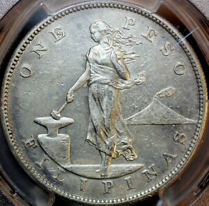 1903 US Philippines Silver Peso - PCGS XF DETAIL  -  CLEANED